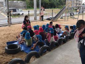 名護市ラララ保育園の子供たち